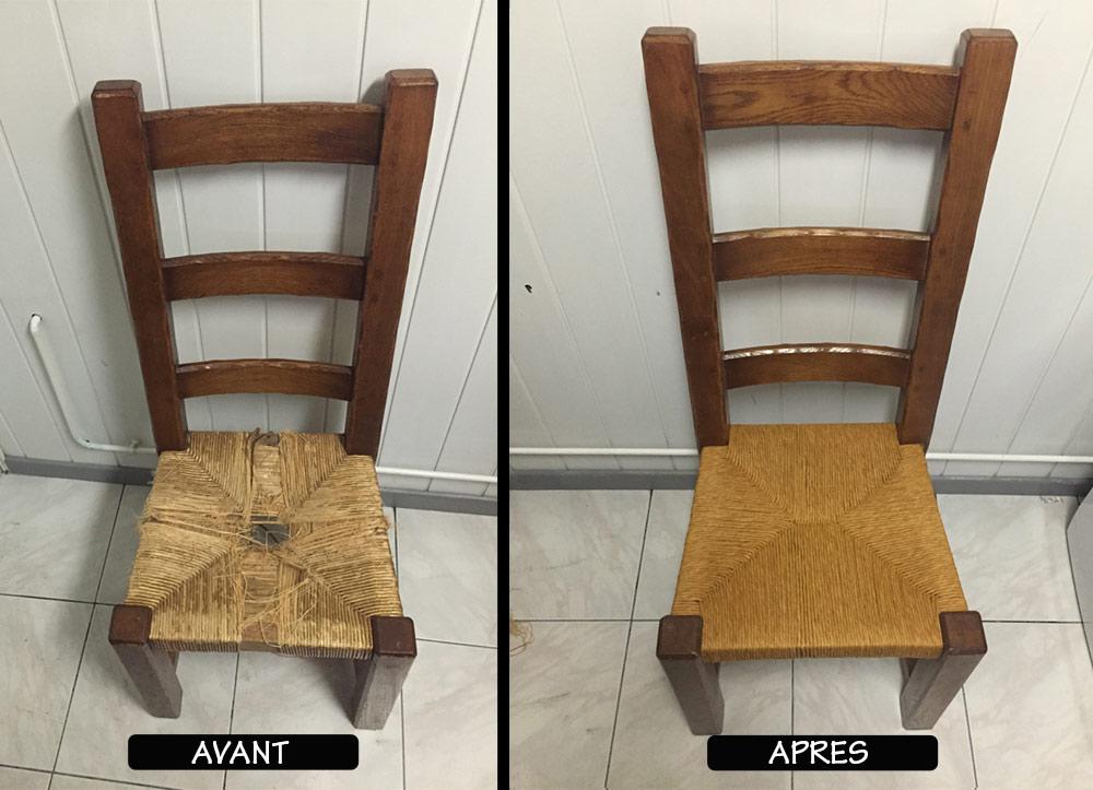 rempaillage chaise nord table de lit
