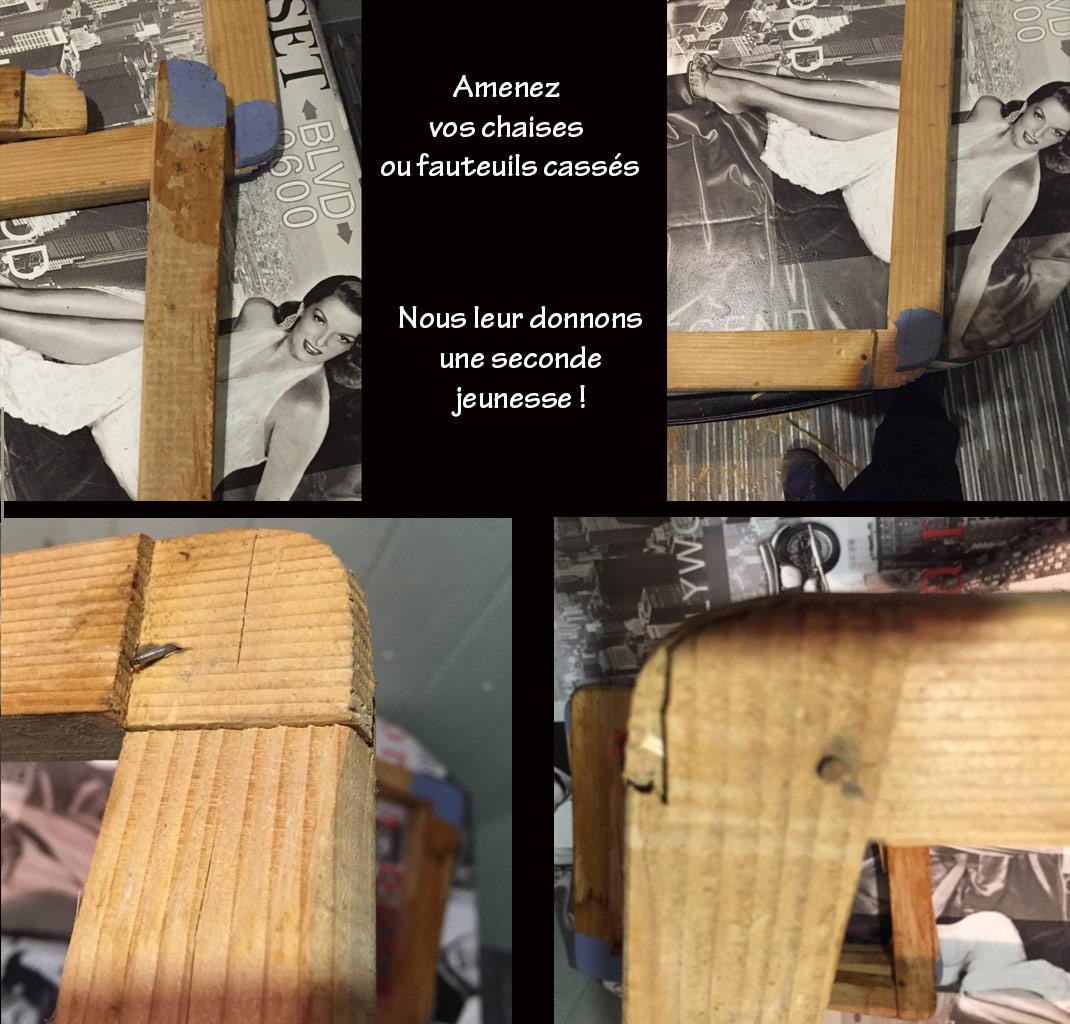 réparation chaises fauteuils Nord Pas de Calais